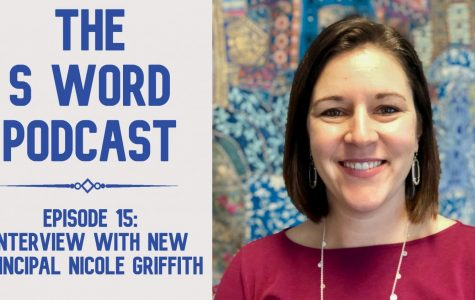Interim principal Nicole Griffith wasn't the only new voice in our first podcast of the year. The audio engineer and the hosts were also new. The episode allows listeners to travel from Texas to Chicago, to Australia, to Paris and back to Austin without leaving their homes. Graphic by Theo Roe.