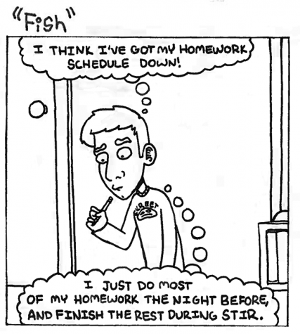 "In the latest installment of ""Fish,"" Stephen learns an alarming truth about student independent reading time."