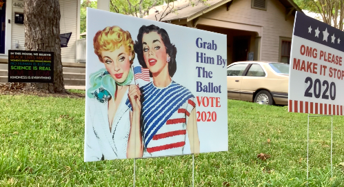 Election signs of the times