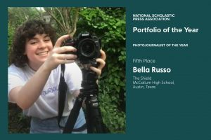 When she was in ninth grade, Bella Russo earned more photo credits than any other photojournalism student, but she didn't feel like she was a true photojournalist until she started reporting and writing the stories that wrapped around her photos.