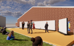 This rendering of the outdoor stage shows its possible use as a venue for dance or theatre shows. Other renderings show the space as a venue for visual art exhibitions, for regular class meeting and for guest speakers. Junior theatre major Grace Hickey is excited for the opportunities the space would bring.