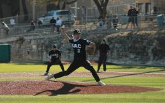 Senior Ethan Vandament not only hit a bases-clearing RBI triple to drive in three runs in the top of the fifth but also pitched a complete game with six strikeouts and five earned runs allowed.