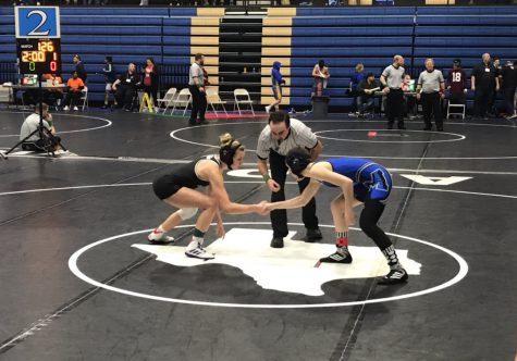 London Hudnall may not have been Cedar Parks Cassidy King in the UIL Region 4-5A final match on Feb. 15, but she did hang tough against the undefeated champion and avoided being pinned. Both of them advanced to the state tournament.