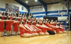 STICKING WITH TRADITION: The McCallum Blue Brigade sticks the final pose during