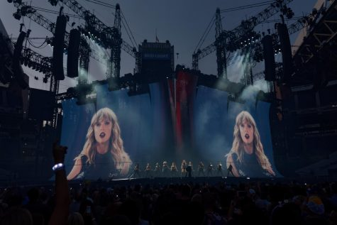 "A TALE OF TWO TAYLORS: As part of her ""Reputation"" tour, Swift performs at what was then called CenturyLink Field in Seattle on May 22, 2018. Since this tour, Scooter Braun sold Swift"