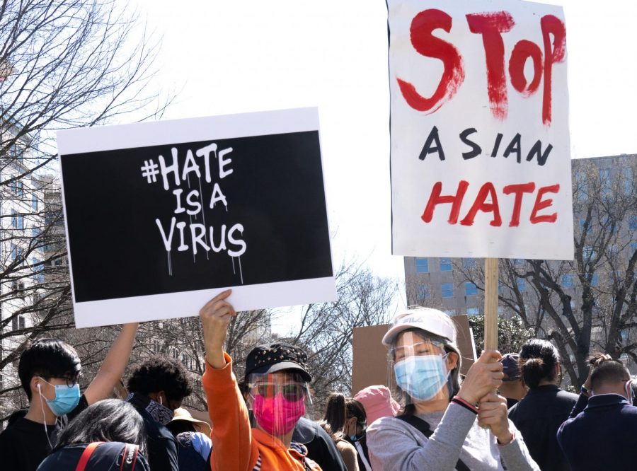 Protesters+Rally+to+Stop+Asian+Hate+at+McPherson+Square+in+D.C.+on+March+3.+Like+in+Austin%2C+the+D.C.+rally+joined+a+national+movement+of++rallies+against+anti-Asian+hate+crimes.+