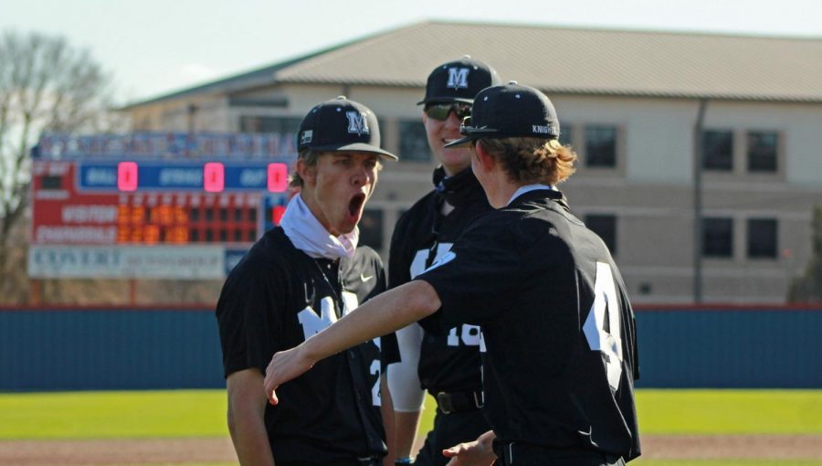 ABOVE%3A++Senior+Ethan+Vandament+not+only+hit+a+bases-clearing+RBI+triple+to+drive+in+three+runs+in+the+top+of+the+fifth+to+give+McCallum+the+lead%2C+but+he+also+pitched+a+complete+game+with+six+strikeouts+and+five+earned+runs+allowed+in+an+8-5+victory+over+6A+powerhouse+Westlake+that+completed+a+5-0+weekend+at+the+AISD+baseball+tournament+March+4-6.