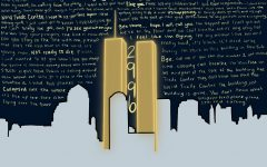 The text in this illustration are snippets from calls made by victims and first responders on Sept. 11, 2001. The number 2,996 represents the total number of fatalities caused by the attacks.