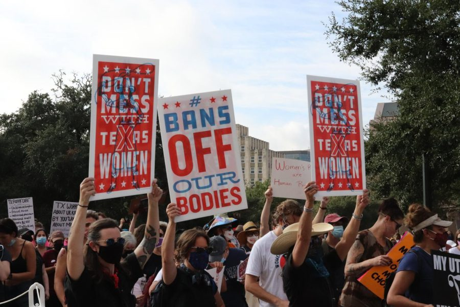 One of many reproductive rights protests going on across the country on Saturday, the Austin event on the steps of the state Capitol attracted thousands and focused on making the case against SB8, which became law on Sept. 1.