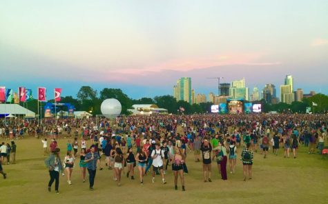 Festival goers gather during Austin City Limits in 2017. This pre-COVID look at the event shows larger crowd gatherings of people to enjoy the festival.